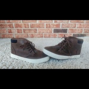 3/$20 Nautica Boys Brown High Top Sneaker 2